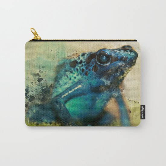 Blue poison frog Carry-All Pouch