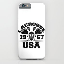 USA Lacrosse 1967 Lacrosse Player iPhone Case