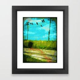Six Crows Framed Art Print