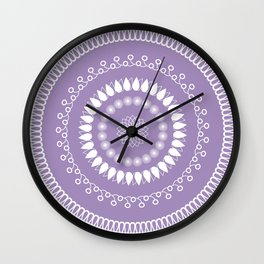 Round lilac pattern Wall Clock