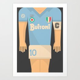 Maradona shirt, SSC Napoli, Maradona Napoli, vintage football shirt, old soccer shirt, calcio Art Print