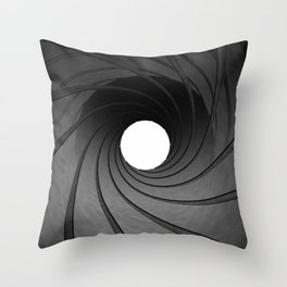 Gun barrel Throw Pillow