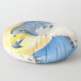 Peregrine Falcon Sky Sun Oil Painting Floor Pillow