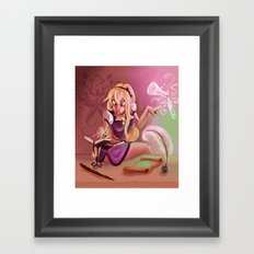 Little Witch Framed Art Print