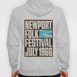 Vintage 1966 Newport Folk Festival Advertisement Poster Hoody