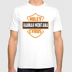 Miley Cyrus Hannah Montana  SMALL Mens Fitted Tee White
