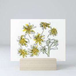 Manx Flora #3 - Scruffy Yellow Mini Art Print