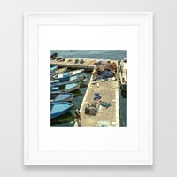 fishing Framed Art Prints featuring Fishing by Sébastien BOUVIER