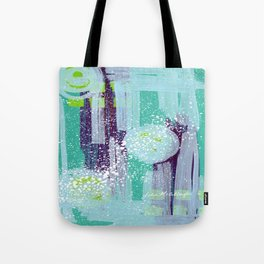 Teal Background Tote Bag