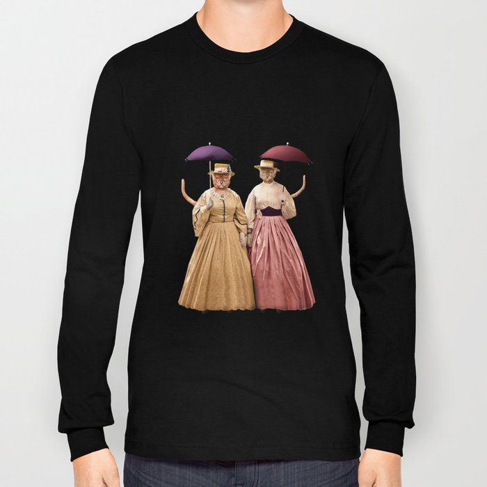 Two Pretty Kitties: Out for a Stroll Long Sleeve T-shirt