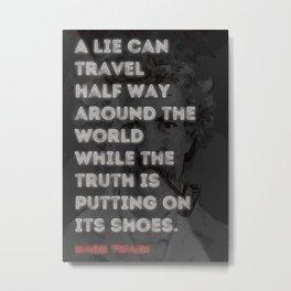 Mark Twain Quote Metal Print