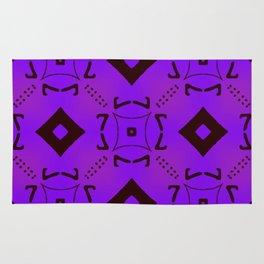 Vivid Purple on Black Diamonds Rug
