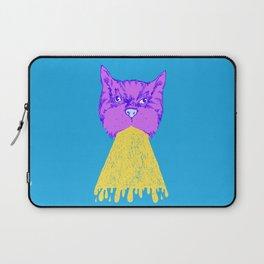 Cat Vomit - Purple Poot + Blue Background Laptop Sleeve