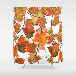 orange grapevine 2 Shower Curtain