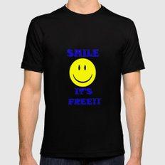 Smile It's free MEDIUM Black Mens Fitted Tee