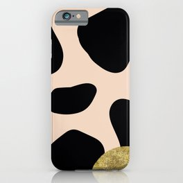 Golden exotics - Cow and soft tangerine iPhone Case