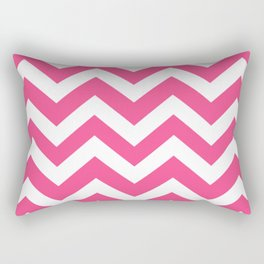 French rose - pink color - Zigzag Chevron Pattern Rectangular Pillow