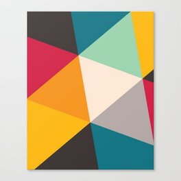Cute Triangles colorful gift Canvas Print