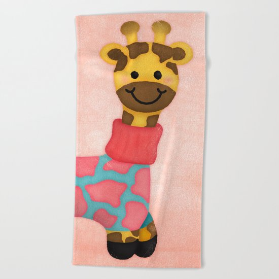 Cutie Patootie Giraffe Beach Towel