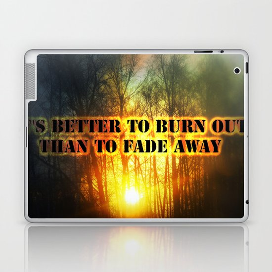 Sunset and the frost  Laptop & iPad Skin