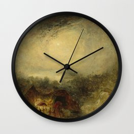 The Evening of the Deluge J. M. W. Turner Wall Clock