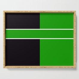 Team Color 6...Green,black Serving Tray