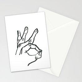 Meridian Finger Stationery Cards