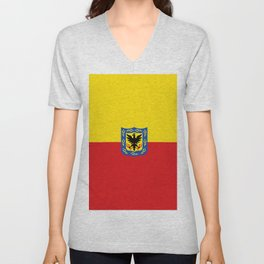 Flag of Bogota Unisex V-Neck