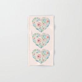 Three Hearts Cactus Rose Hand & Bath Towel