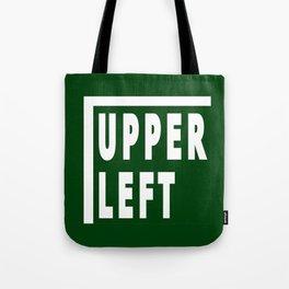 Upperleft Green Tote Bag