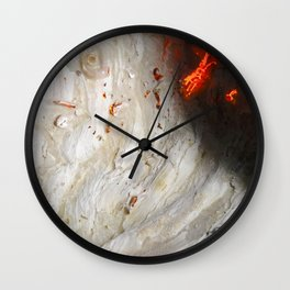 Flaming Seashell 2 Wall Clock