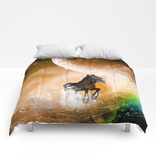 Running horse Comforters