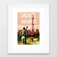 fallout 3 Framed Art Prints featuring Fallout 3 by Dayle Kornely
