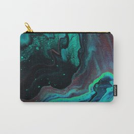 Poured Green Gemstone Galaxy Carry-All Pouch