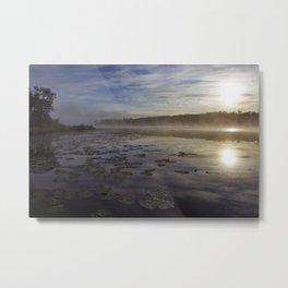 lilly pad dawn Metal Print
