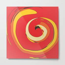 Crazy Spiral by FreddiJr Metal Print