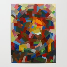 Otto Freundlich Rosace ii Abstract Acrylic Painting Modern Geometric Colorful Art Pattern Poster