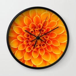 Orange Dahlia... Wall Clock