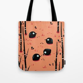 Black Birds in the Forest Tote Bag