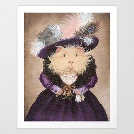 Ingrid Pumpernickel the Victorian Guinea Pig Art Print