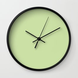 Modern stylish mint green solid color Wall Clock