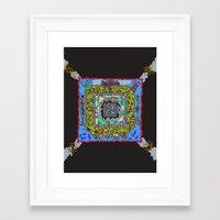 pixel art Framed Art Prints featuring Pixel by oddscenes