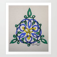 Celtic Vines Art Print