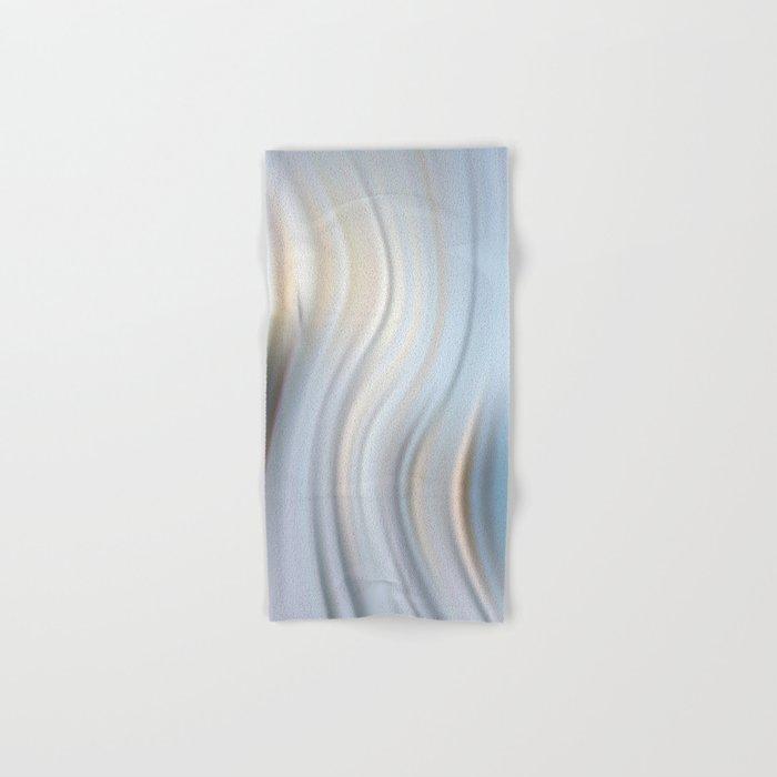 Abstract modern wavy background, elegant wave illustration Hand & Bath Towel