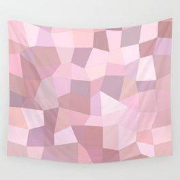 Pastel Pink Mosaic Wall Tapestry