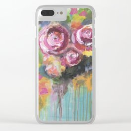 Roses of hope Clear iPhone Case