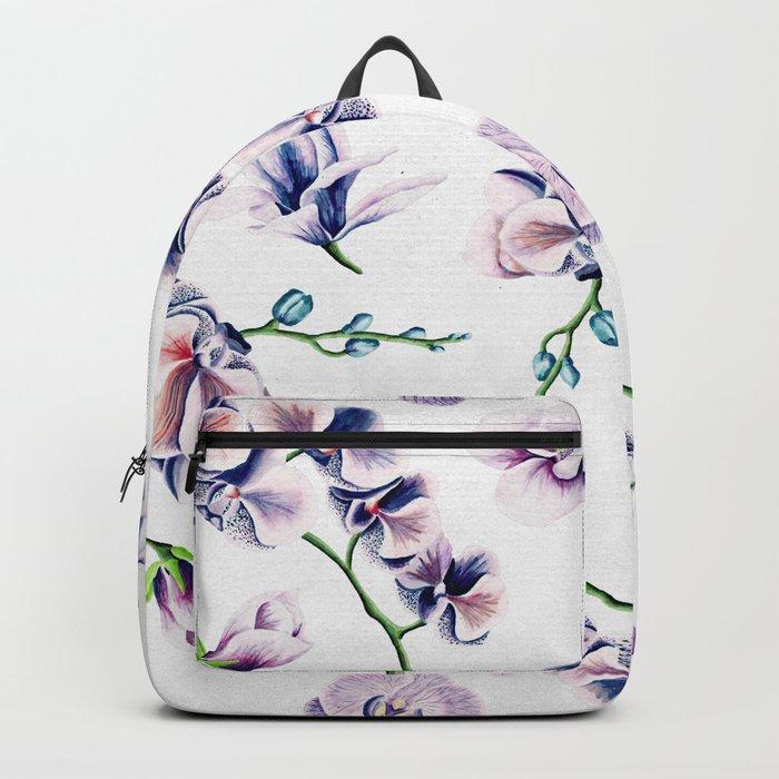 Lavender Blossom Floral Pattern Backpack