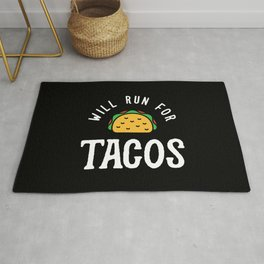 Will Run For Tacos Rug