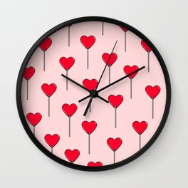 Heart Lollipops Wall Clock