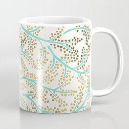 Branches – Mint & Gold Palette Coffee Mug